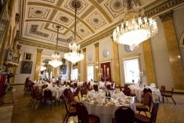 Town Hall room set up before meal