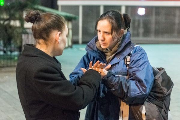 Street pastor lends a hand