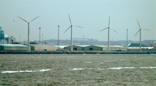 Wind turbines at Seaforth