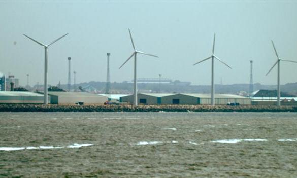Wind turbines at Seaforth