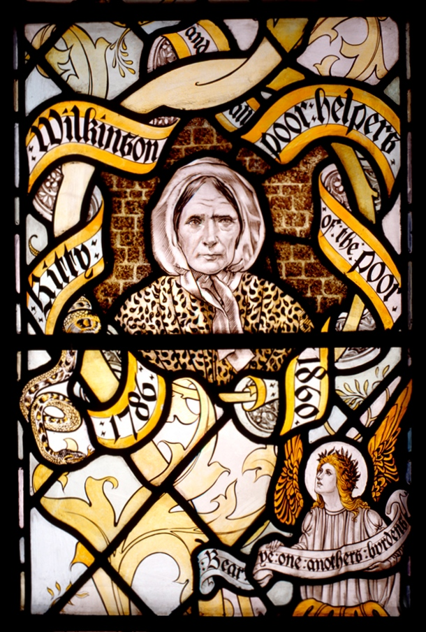 kitty wilkinson stained glass window at cathedral