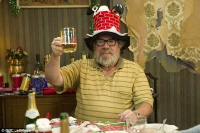 Ricky as Jim Royle in 'the Royle family'