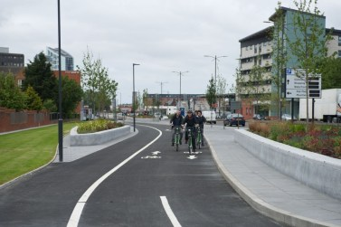 The new cyle path , part of the improvements