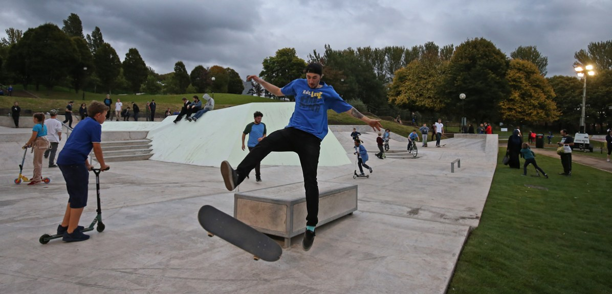 6. Skaters and young people using Evertro. Photo Gareth Jones