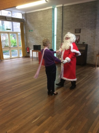 santa at st davids christmas