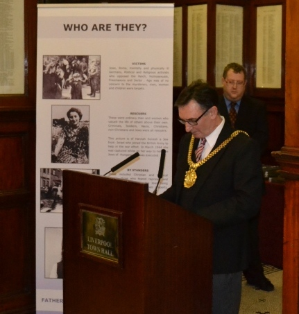 The Lord Mayor opens the exhibition