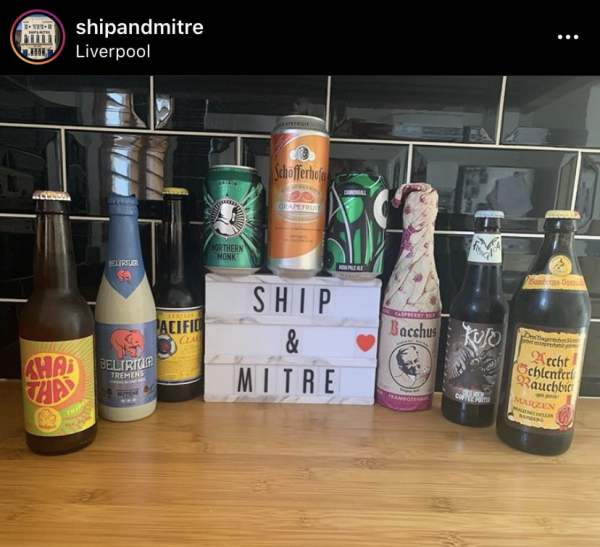 Alcohol deliveries in Liverpool Ship & Mitre