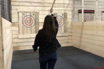 Fun Activities to do in Liverpool Axe Throwing at Hatchet Harry's