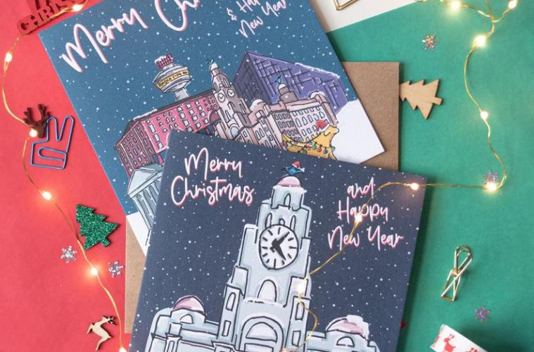 Liverpool Independents Christmas Gift Guide Moo and Snip Christmas Cards