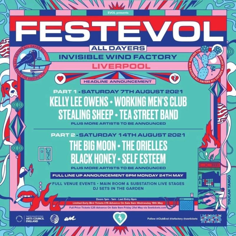 FestEvol Liverpool Lineup Poster Square