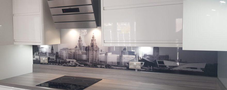Liverpool Waterfront Printed Glass Splash Backs.