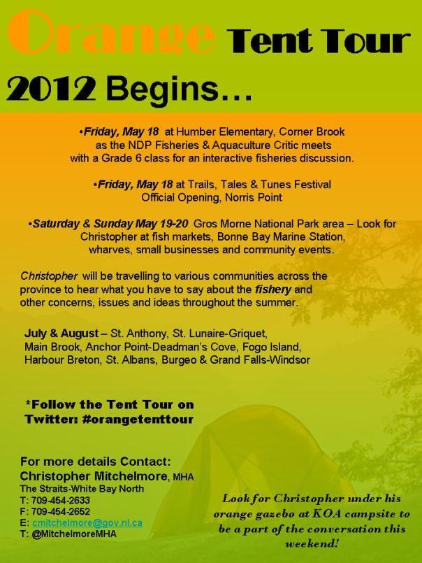 Orange Tent Tour 2012