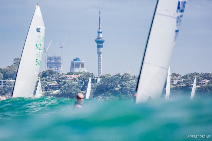 OK Dinghy Worlds Practice Day. Photo: Robert Deaves