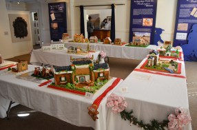 All the gingerbread creations make the museum gallery smell delicious!