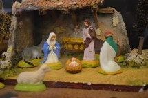 """Santons"" submitted by Anna Jennings. A Santon is a small hand-painted terracotta Nativity scene figure made in France's Provence region."