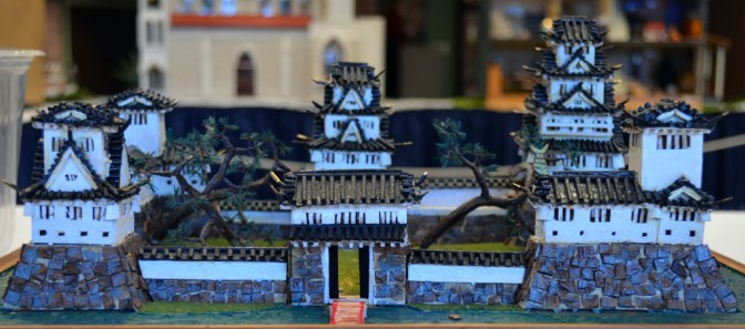 """Lost But Not Forgotten"" submitted by James Opher is a diorama of a Japanese castle."