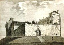 Drawing of Kenmure Castle, south-west Scotland, by Francis Grose (1797). Credit: Wikipedia