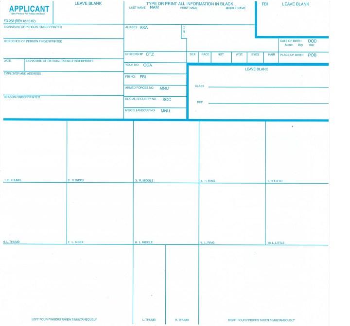 Fingerprint Cards Fbi Poemview