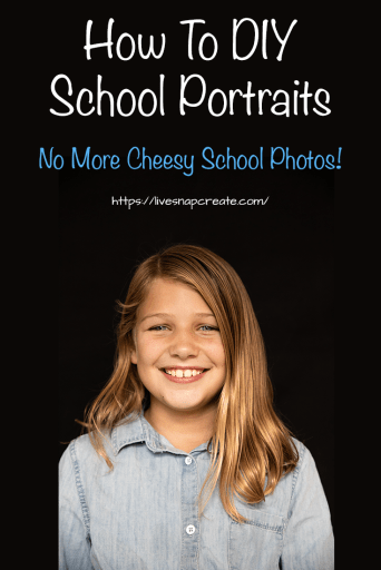 School Photo of Girl - How to DIY School Portraits