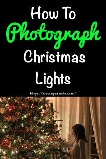 How to photograph christmas lights with image of girl by tree