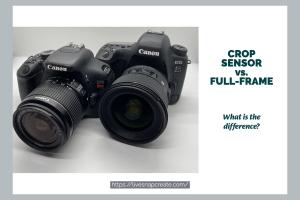 Crop sensor vs. full-frame sensor DSLR cameras. What's the difference? - Image show two DSLR cameras.