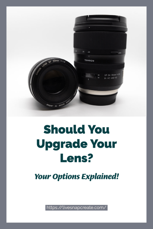 Should you upgrade your lens?  Image of a tamron and canon prime lens.