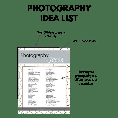 Photography Idea List Mockup