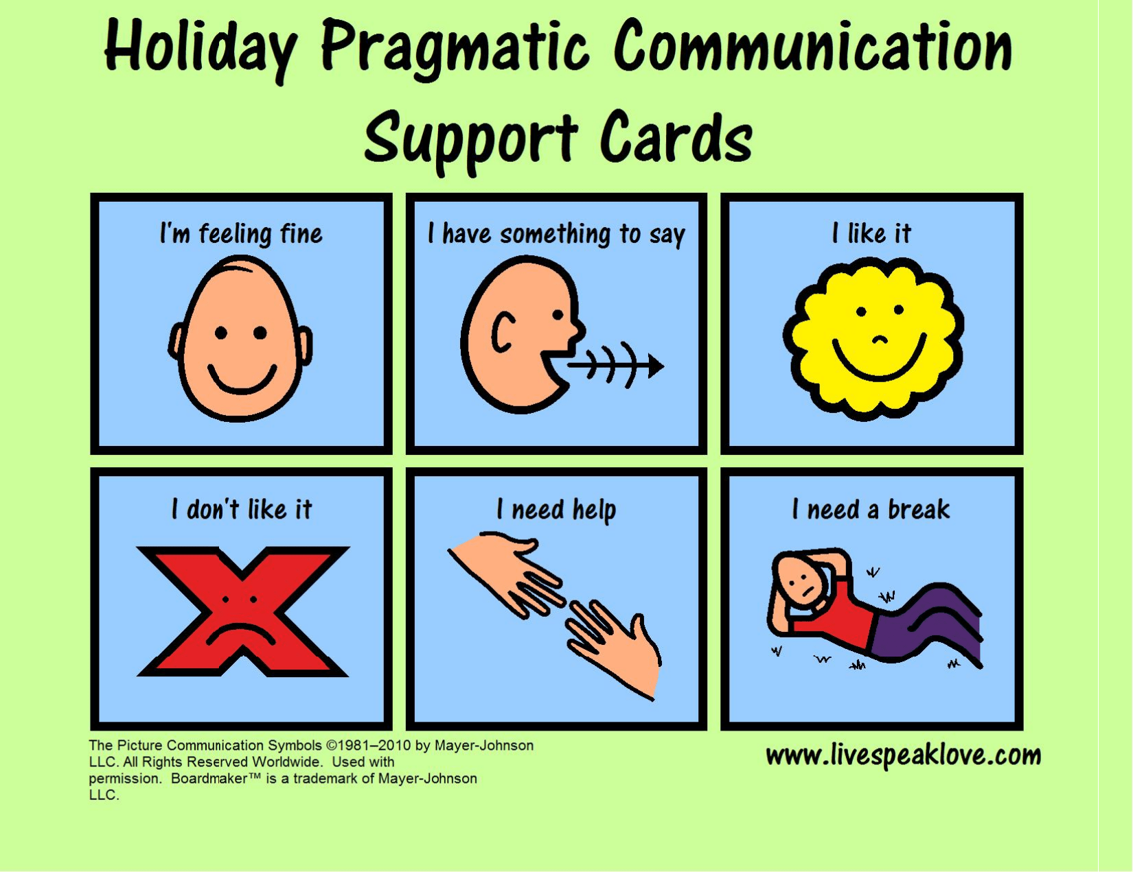 Holiday Cheer Free Visual Support For Functional