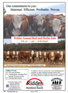 Ridder Annual Bull and Heifer Sale @ Ridder Hereford Ranch | Callaway | Nebraska | United States