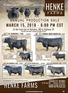 Henke Annual Production Sale @ At the farm | Salisbury | Missouri | United States
