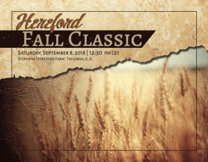 Hereford Fall Classic @ Stephens Hereford Farm | Taylorville | Illinois | United States