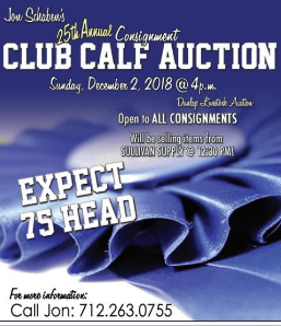 25th annual Consignment Club Calf Auction