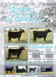 Females Building a Legacy Sale @ Jansen Facility | Earlham | Iowa | United States