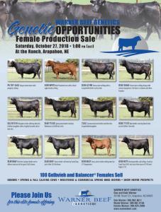 Warner Beef Genetics Female Production Sale @ At the ranch | Arapahoe | Nebraska | United States