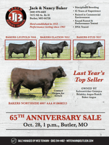 Baker Angus 65th Anniversary Sale @ Butler | Missouri | United States