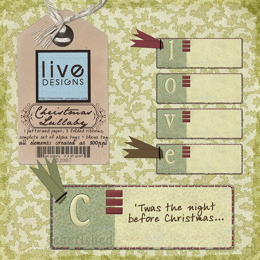 LivEdesigns Christmas Lullaby Set2
