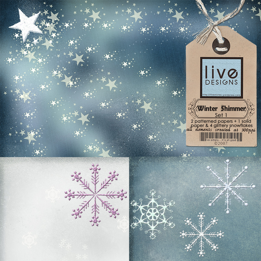 LivEdesigns Winter Shimmer Set 1Preview