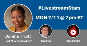 Livestream Stars Janine Truitt Ross Brand