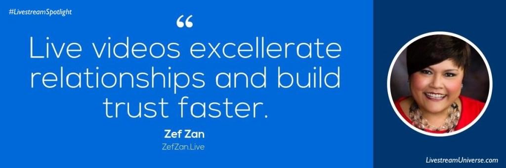 Zef Zan Quote Livestream Universe Spotlight