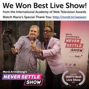 Mario Armstrong Never Settle Show IAWTV Ross Brand