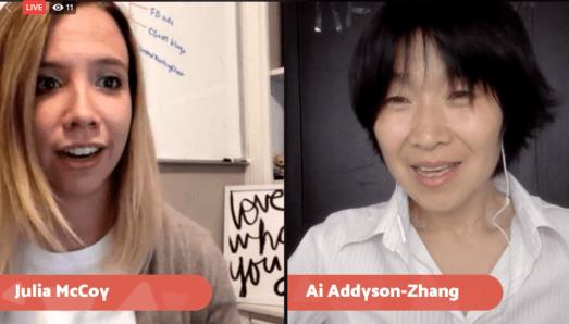 Julia McCoy Ai Addyson Zhang