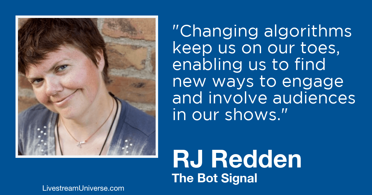 RJ Redden bots livestream universe 2019 prediction