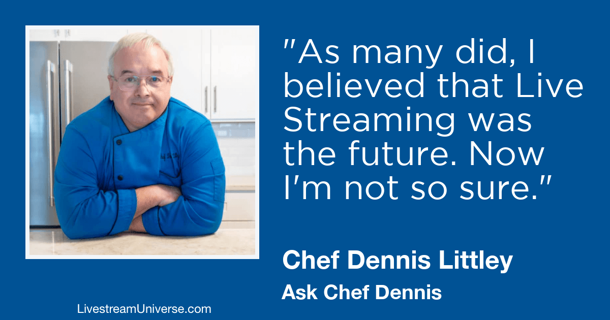 chef dennis littley livestream universe 2019 prediction