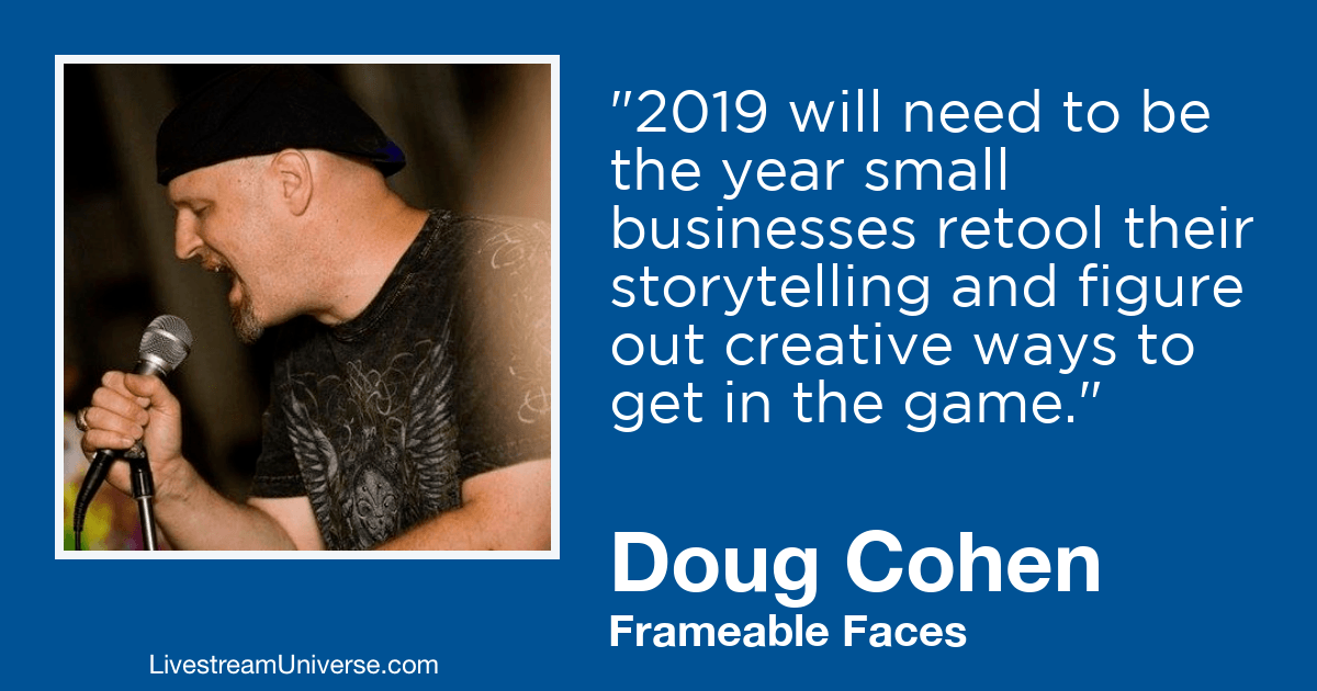 doug cohen 2019 prediction livestream universe