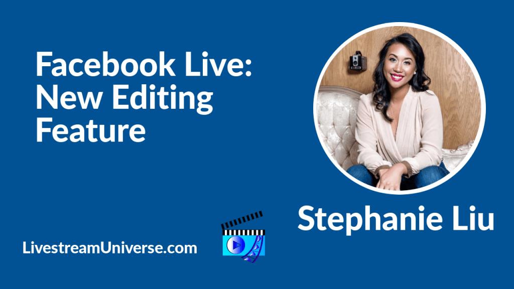 Facebook Live Video Stephanie Liu