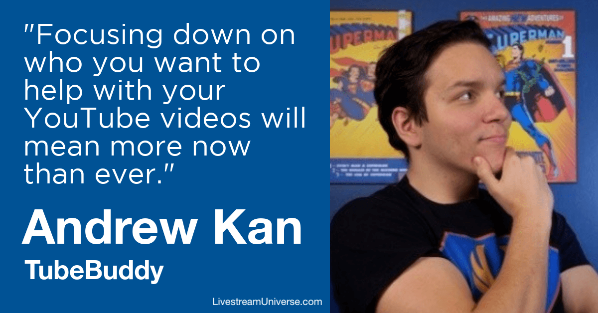 Andrew Kan TubeBuddy LIvestream Universe Predictions 2020