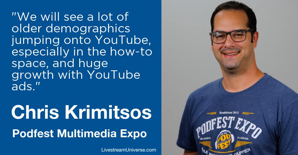 Chris Krimitsos Podfest Livestream Universe Prediction 2020