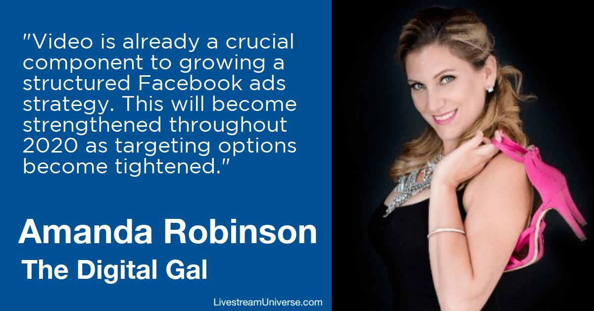 amanda robinson digital gal livestream universe predictions 2020