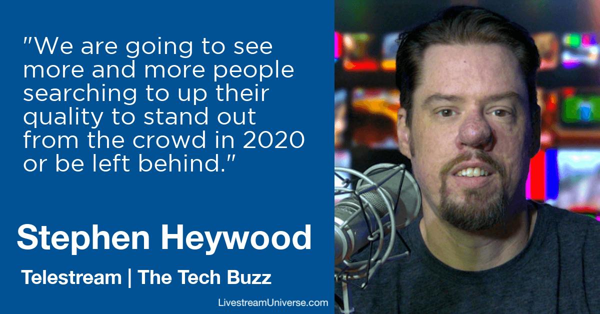 stephen heywood wirecast livestream universe 2020 predictions