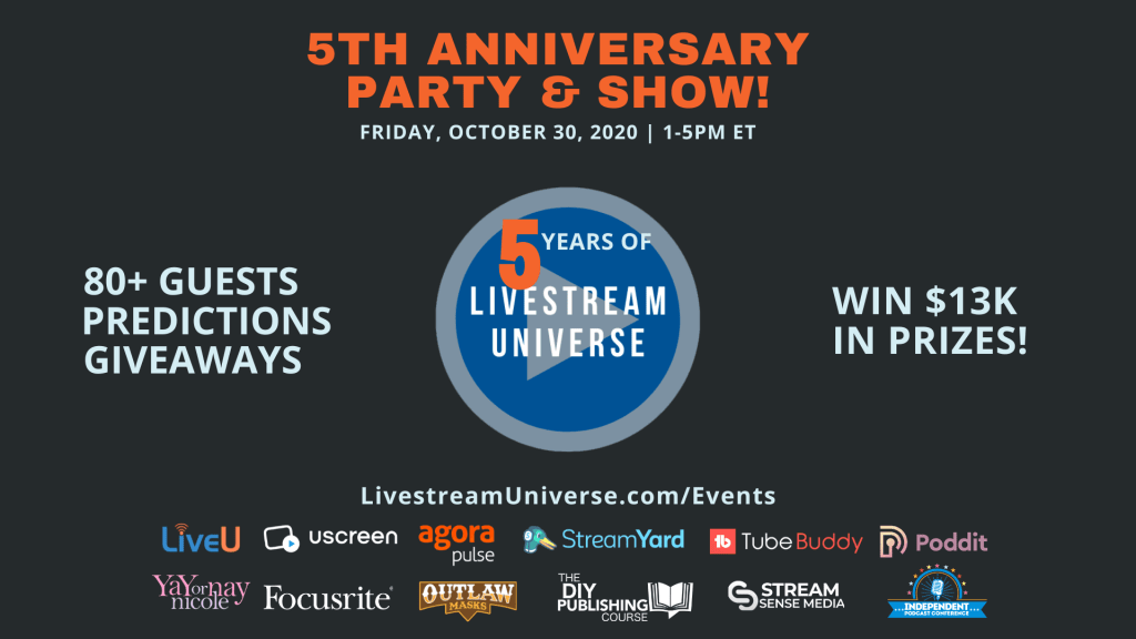 Livestream Universe 5th anniversary party ross brand